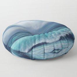 Moody waves Floor Pillow