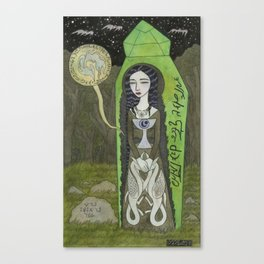 Snow White in her Glass Coffin Canvas Print