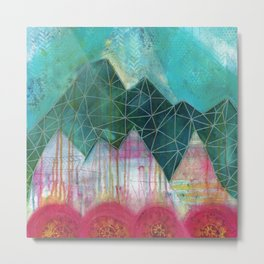 Mountain Winter Solstice Metal Print