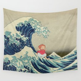 Ponyo and the Great Wave Wall Tapestry