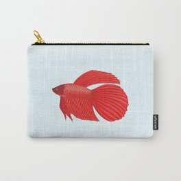 betta splendens red male Carry-All Pouch