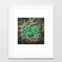 camo Framed Art Prints featuring Camo by GabrieleCigna