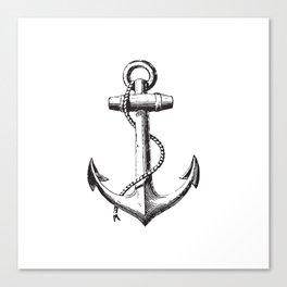 Anchor - Navy Symbol Canvas Print