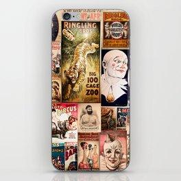 Circus Collage iPhone Skin