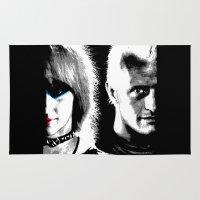 blade runner Area & Throw Rugs featuring Blade Runner Nexus 6 by PsychoBudgie