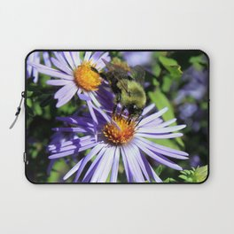 Pollen Dusted Bee on Asters Laptop Sleeve