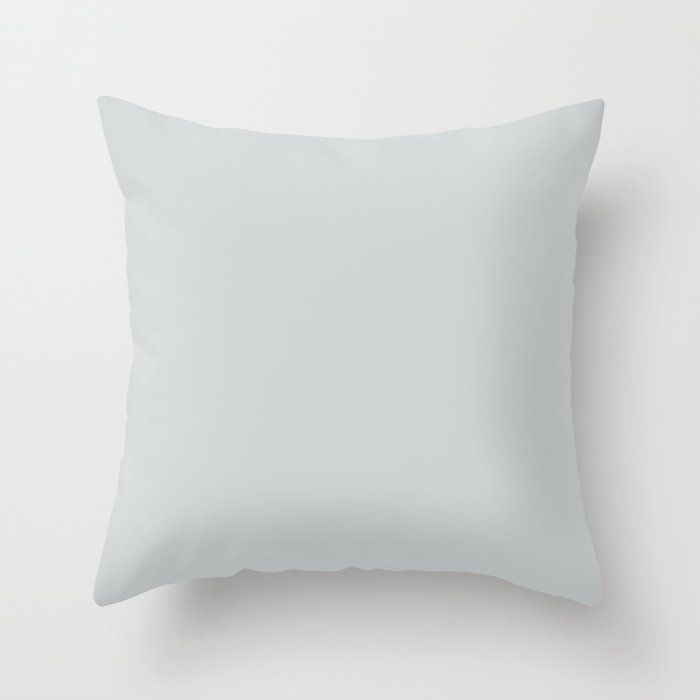 Light Pastel Gray Pairs w/ Sherwin Williams 2019 / 2020 Trending Colors of Misty SW 6232 Solid Color Throw Pillow
