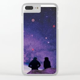 We Are All Connected Clear iPhone Case
