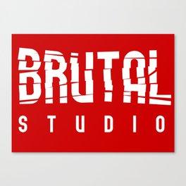 Brutal Studio Red Logo Canvas Print