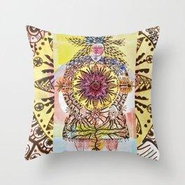 Mandala Woman Throw Pillow