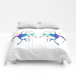 Dueling Jesters Comforters