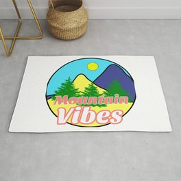 Mountain Vibes Typography Art Logo Design / GFTMountain001 Rug