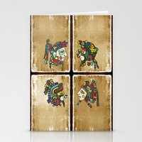 mexican Stationery Cards featuring mexican warriors by laika in cosmos