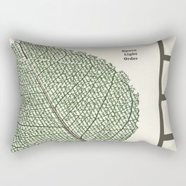 Space and Light and Order Quote #1 Rectangular Pillow
