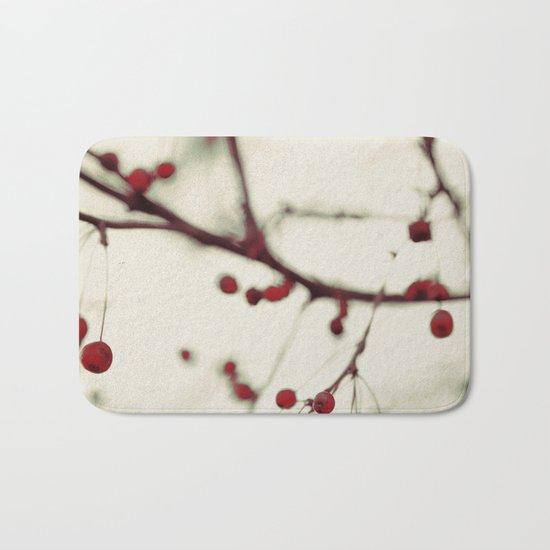 dark berries Bath Mat