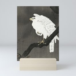 Koson Ohara - White Eagle on a Branch - Japanese Vintage Ukiyo-e Woodblock Painting Mini Art Print