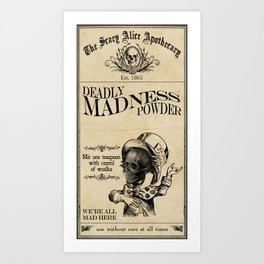 Scary Alice Apothecary - Mad Hatter Art Print