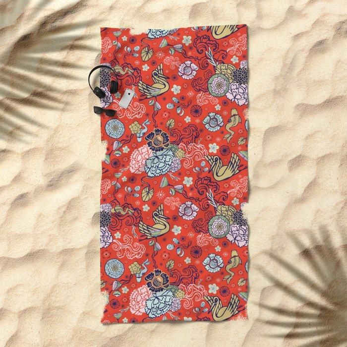 Cranes´ Flight Beach Towel