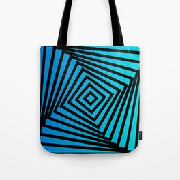 Squares twirling from the Center. Optical Illusion of Perspective bu Squares twirling Tote Bag
