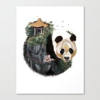 china Canvas Prints featuring China by Lamya Al Douri Illustration