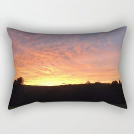 Color drenched sunset Rectangular Pillow