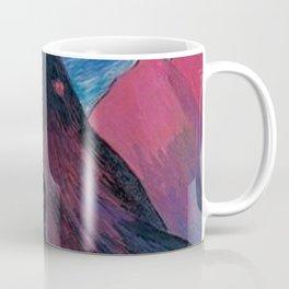'Nether Fires' Milky Way & Stars mountain nighttime landscape by Marianne von Werefkin Coffee Mug