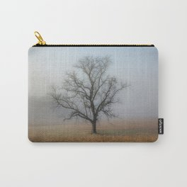 In a Fog - Single Tree on Foggy Morning in the Great Smoky Mountains Carry-All Pouch