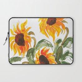 sunflower watewrcolor 2018 Laptop Sleeve