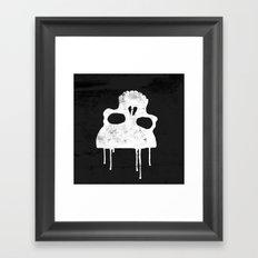 GRUNGE BACKGROUND WITH SKULL Framed Art Print
