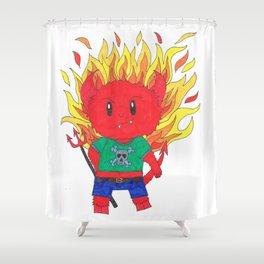 Punk Rock Devil Shower Curtain