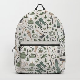 Camping Earth Tones Backpack
