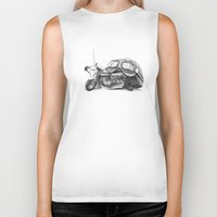 cafe racer Biker Tanks featuring Cafe Racer II by Rainer Steinke