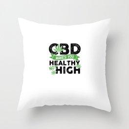 420 Smoke Weed | Cannabis Ganja Gift Throw Pillow