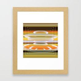 Saucer Shapes Framed Art Print