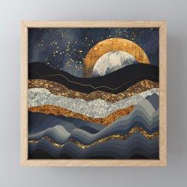 Metallic Mountains Framed Mini Art Print