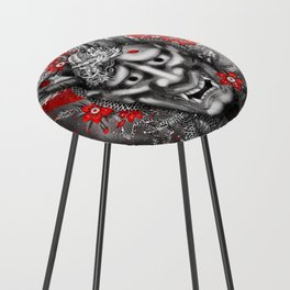 Hannya dragon mask Counter Stool