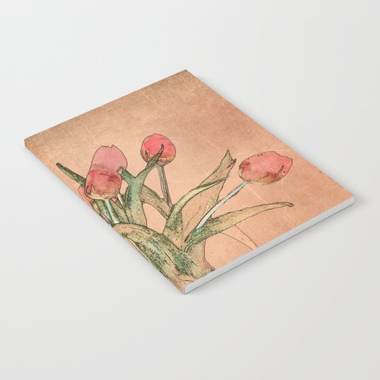Vintage tulips Notebook