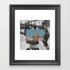 I was born to hustle roses down the avenues of the dead Framed Art Print
