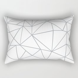 Ab Outline 2 Grey on White Rectangular Pillow