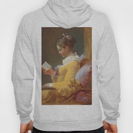Young Girl Reading Painting by Jean-Honoré Fragonard Hoody