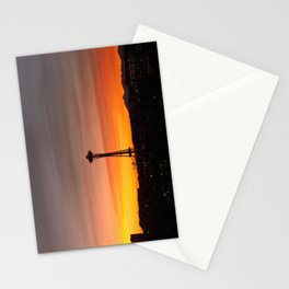 Space needle Sunset Stationery Cards