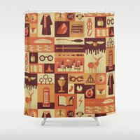 seinfeld Shower Curtains featuring Accio Items by Risa Rodil