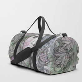 Wake (street art woman with maple leaves tattoo) Duffle Bag