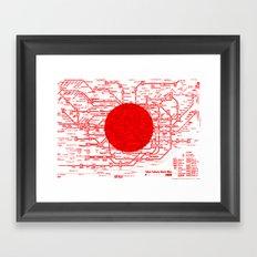 Modern Japan - Tokyo Framed Art Print