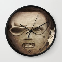 hannibal lector Wall Clock