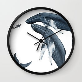 humpback whale hello Wall Clock