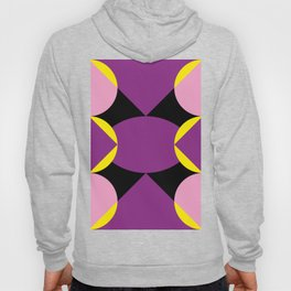 Two pyramids meeting at the oval center. Surrounded by yellow wings. Hoody