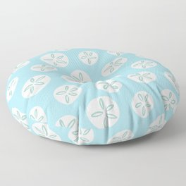 Sand Dollars Sea Urchin in Blue Floor Pillow