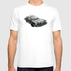 Ford Mustang Mens Fitted Tee White SMALL