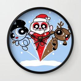 ChristmasPuff Heroes Wall Clock